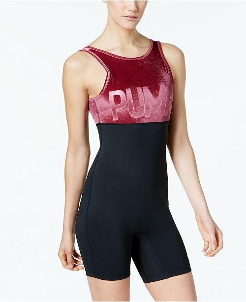 6922459115 Puma Velvet Unitard Bodysuit   Reviews - Tops - Women - Macy s