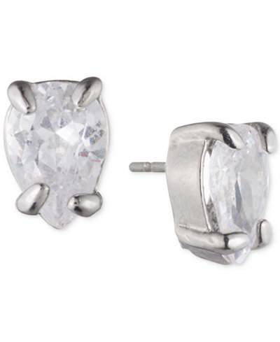 Carolee Silver-Tone Cubic Zirconia Jacket Earrings