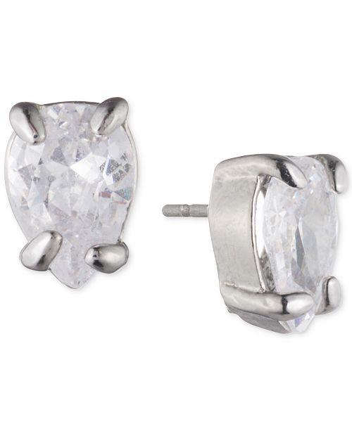 Carolee Silver-Tone Cubic Zirconia Jacket Earrings