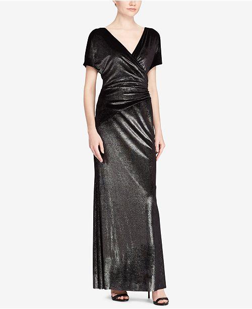 Lauren Ralph Lauren Metallic Velvet Gown - Dresses - Women - Macy s f4cd238f5