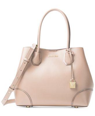 michael kors mercer pebble leather gallery satchel handbags rh macys com