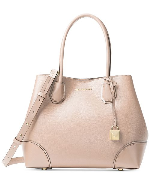 ca1497fb5cf9 Michael Kors Mercer Pebble Leather Gallery Satchel   Reviews ...