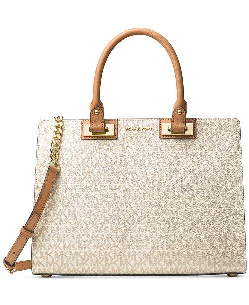 2dabf2e48821 Michael Kors Signature Quinn Large Satchel   Reviews - Handbags ...