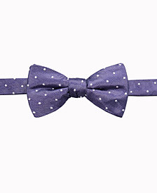 Ryan Seacrest Distinction™ Men's Burke Dot Pre-Tied Silk Bow Tie, Created for Macy's