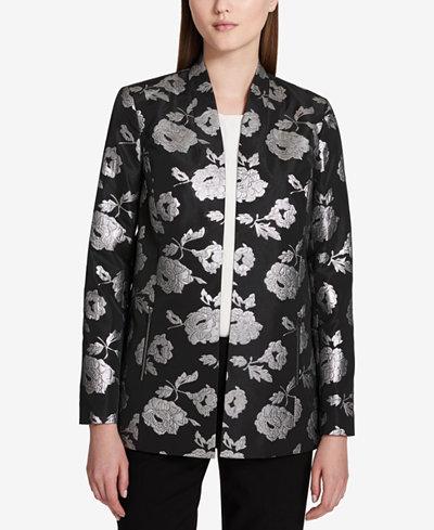 Calvin Klein Brocade Topper Jacket