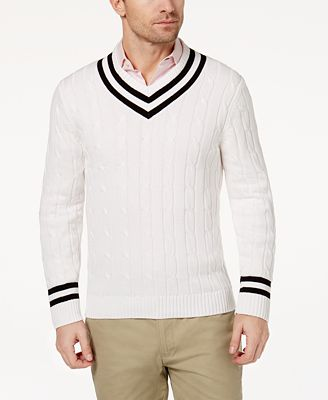 Club Room Men's Cricket Sweater, Created for Macy's