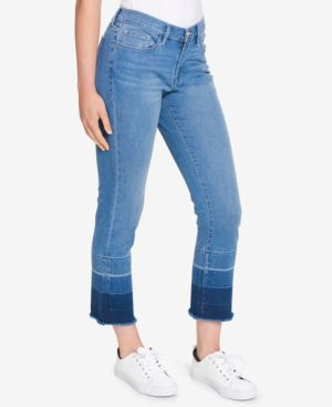 FRAYED DIP-DYE JEANS, CREATED FOR MACY'S
