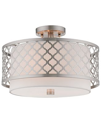 Livex arabesque 3 light flush mount