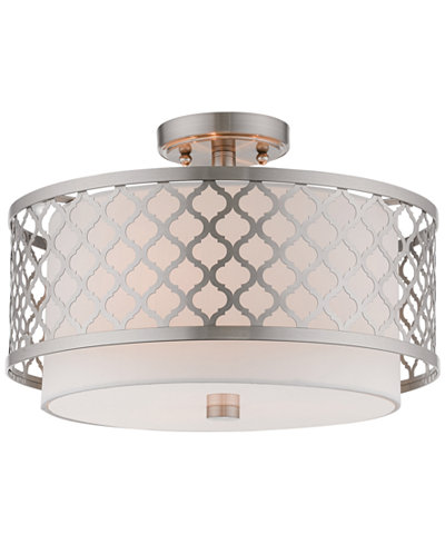 Livex arabesque 3 light flush mount lighting lamps home macys livex arabesque 3 light flush mount aloadofball Image collections