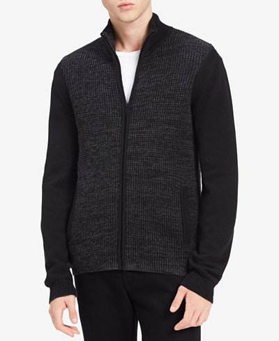 Calvin Klein Jeans Men's Front-Zip Sweater