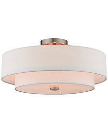 Livex Claremont 4-Light Semi-Flush Mount