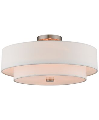 Livex claremont 4 light semi flush mount