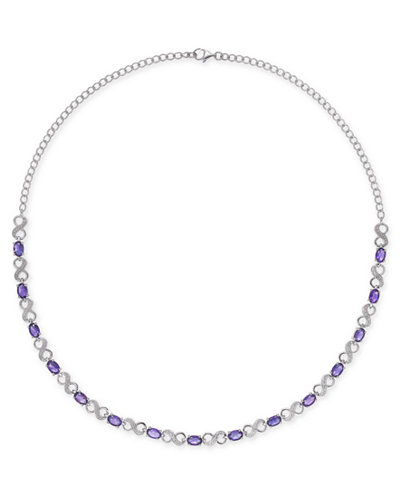 Amethyst (7-1/2 ct. t.w.) & Diamond Accent Infinity Collar 16