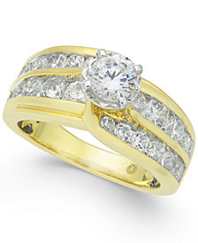 Diamond Two-Row Engagement Ring (2 ct. t.w.) in 14k Gold