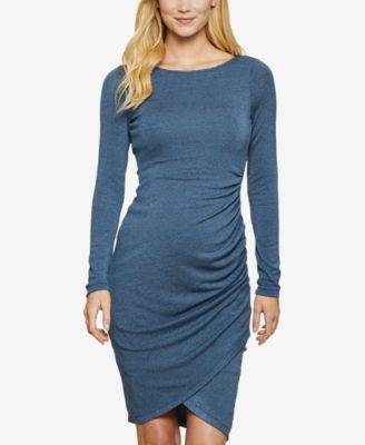 Jessica Simpson Maternity Ruched Long Sleeve Dress