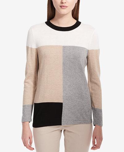 Calvin Klein Neutral Colorblocked Sweater