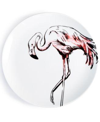 CLOSEOUT! Tropicalia Flamingo Salad Plate, Created for Macy's