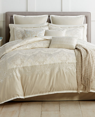 Closeout Emilia Embroidered 14 Piece Comforter Sets Bed