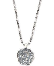 Men's Spartan Pendant Necklace in Sterling Silver