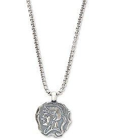 DEGS & SAL Men's Spartan Pendant Necklace in Sterling Silver
