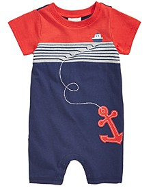 Baby Boys Cotton Nautical Romper, Created for Macy's