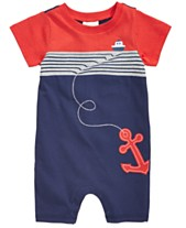 42e152c42fa0 First Impressions Baby Boys Cotton Nautical Romper, Created for Macy's