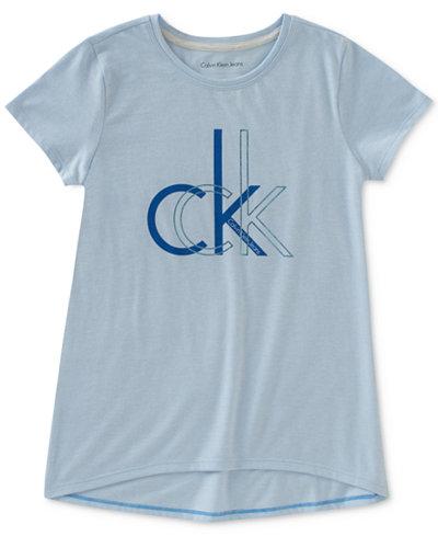 Calvin Klein CK Logo-Print T-Shirt, Big Girls