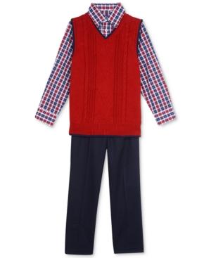 Nautica 3Pc Sweater Vest Shirt  Pants Set Little Boys (47)