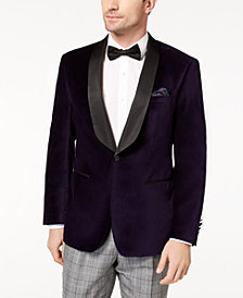 Tallia Men's Slim-Fit Purple Velvet Dinner Jacket