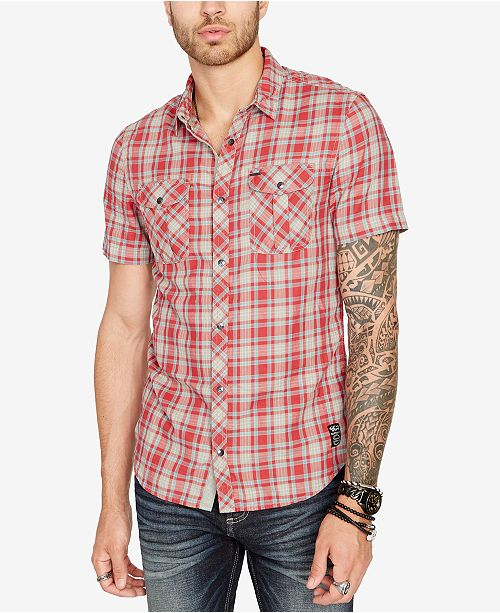 Buffalo David Bitton Men's Soulman Plaid Shirt