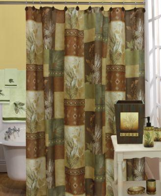 Bacova Pinecone Silhouettes Bath Collection