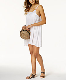 Raviya Crochet-Insert Dress Cover-Up