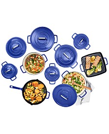 CLOSEOUT! Martha Stewart Collection Cast Iron Cookware, Created for Macy's