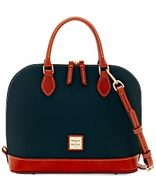 Dooney & Bourke Pebble Leather Zip Zip Satchel