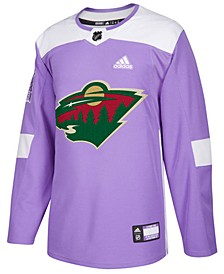 Men's Minnesota Wild Authentic Hockey Fights Cancer Jersey