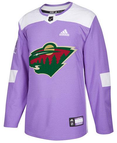 adidas Men's Minnesota Wild Authentic Hockey Fights Cancer Jersey