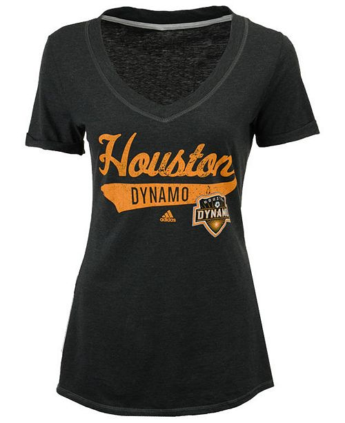 adidas Women's Houston Dynamo Tail Stack T-Shirt