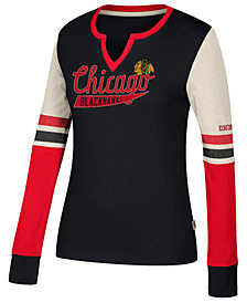 CCM Women's Chicago Blackhawks Henley Long Sleeve Shirt