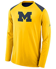 Nike Men's Michigan Wolverines Basketball Long Sleeve Shooter T-Shirt
