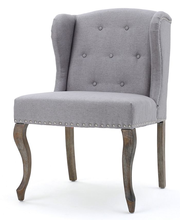 Noble House - Colven Wingback Accent Chair, Quick Ship