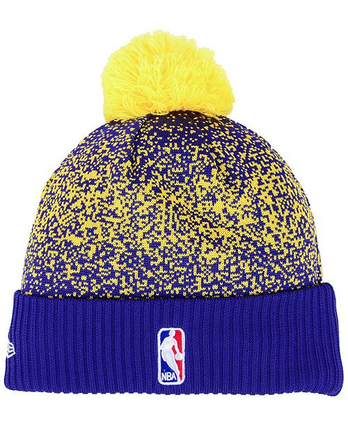 96815d8ec27 New Era Los Angeles Lakers On-Court Collection Pom Knit Hat ...