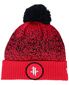 New Era Houston Rockets On-Court Collection Pom Knit Hat