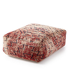CLOSEOUT! Lucky Brand Distressed Chenille Pouf Decorative Pillow
