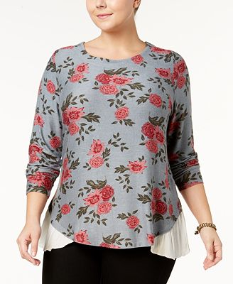Style & Co Plus Size Layered-Look Top, Created for Macy's