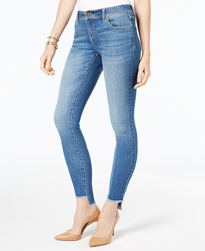INC International Concepts Raw Step-Hem Skinny Jeans, Created for Macy's