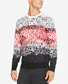 Kenneth Cole Reaction Men's Colorblocked Pixel Camo-Print Sweater