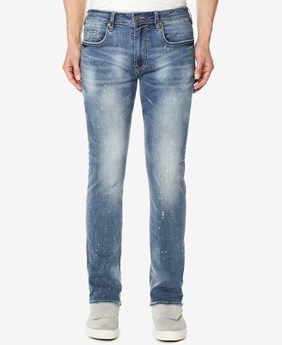 Buffalo David Bitton Men's Evan-X Slim-Straight Fit Stretch Speckled Jeans