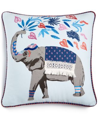 """CLOSEOUT! Gentle Giant Embroidered Graphic Print 18"""" Square Decorative Pillow, Created for Macy's"""