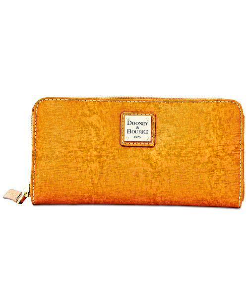 Dooney & Bourke Saffiano Leather Large Zip Around Wallet