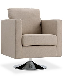 Torran Swivel Club Chair, Quick Ship